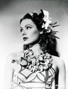 Flowers 17 Gene Tierney in Son of Fury (1942)